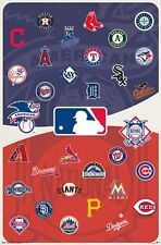 MLB LOGOS - 2015 POSTER - 22x34 BASEBALL TEAMS 14056