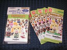 3DS Animal Crossing Amiibo Card Vol.1 5 PACK & Mini Album Holder SET JAPAN F/S
