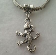Gecko Lizard Chameleon Reptile Iguana Dangle Bead For European Bracelet Or Clip