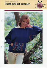 ~ Knitting Pattern For Lady's Fair Isle Dolman Sleeve  Sweater To Knit ~