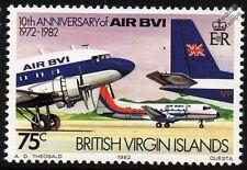 AIR BVI Douglas DC-3 Nose / HS.748 / BN-2 Islander Tail Aircraft Stamp (1982)