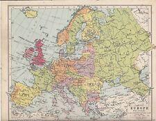 Mapa de 1931 ~ ~ política de Europa Reino Unido Francia iltaly Polonia España Etc