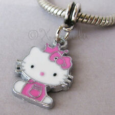 Pink Hello Kitty Princess European Charm Bead For European Charm Bracelets