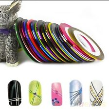 Free Case & 5 Mixed Colour Rolls Striping Tape Nail Art Decoration Sticker Boho