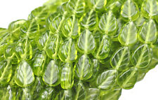 50 OLIVINE CZECH GLASS LEAF BEADS 10MM