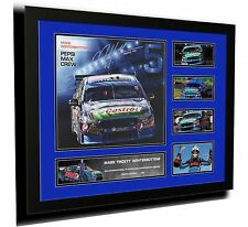 MARK WINTERBOTTOM V8 SUPERCARS FORD SIGNED LIMITED EDITION FRAMED MEMORABILIA