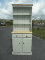 NEW SOLID PINE  WELSH DRESSER NOT SHABBY CHIC IN FARROW & BALL FRENCH GRAY