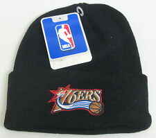 NBA Philadelphia 76ers Black One Size Fits All Cuffed Knit Hat By adidas