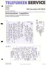 Telefunken Service Schaltplan für HA 750 M