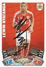 BRISTOL CITY LEWIN NYATANGA SIGNED 11/12 CHAMPIONSHIP MATCH ATTAX CARD+COA*SALE*