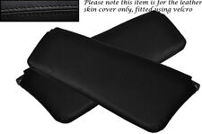 BLACK STITCHING FITS FORD ESCORT MK1 2X SUN VISORS LEATHER SKIN COVERS ONLY