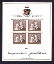 LIECHTENSTEIN MNH 1974 SG601 PRINCE FRANCIS JOSEPH II & PRINCESS GINA SHEET