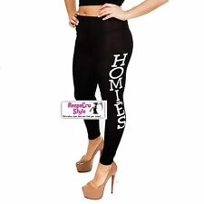 B13 Popular Teen Slogan **HOMIES** Hot Gym Work Out Fashion Winter Legging Pants