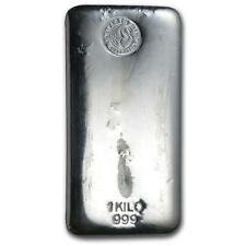 One piece 1 kilo 0.999 Fine Silver Bar Perth Mint Lot 8972