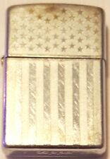 Classic Zippo Lighter Embossed USA Flag Used