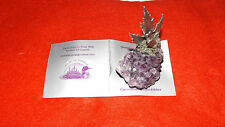 AMETHYST & PEWTER MINIATURE FIGURINE EAGLE -  ROCK ART ORIGINALS BY ROMI WOLF