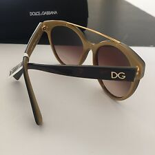 Dolce & Gabbana DG4280 Dark Havana Tortoise Gold Tone Cat-Eye Sunglasses 57mm