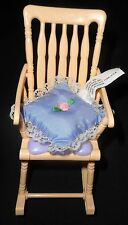 Barbie Rocking Chair PURPLE Yellow HAPPY FAMILY Nursery Furniture w/PILLOW