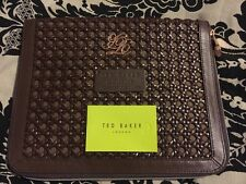 "Ted Baker Brown Woven Leather 10x8"" Tablet Cover Case NWOT"