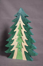 Pine 3D Wooden Christmas Tree Wood Puzzle Toy Amish Made in the USA