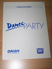 DANCE PARTY - Presseheft ´88 - DONOVAN LEITCH Joe Pantoliano
