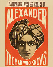Vintage Magic Show  ALEXANDER  Freakshow Carnival Circus  Theater POSTER