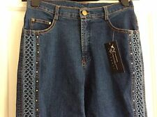 BNWT FRLENDLI EMBROIDERED & BEADED JEANS SIZE M FITS UK 10-12