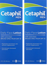 Cetaphil Men Daily Face Lotion with SPF 15, 4 Ounce (Pack of 2)