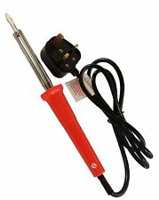 Toolzone Soldering Iron 60W Electric Solder Mains Plug Straight Chisel Tip
