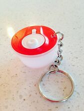 Tupperware Key Chain Red Salad Spinner Keychain Rare New