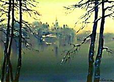 Landscape Limited Edition Print from an Original Painting by Hahonin / ACEO
