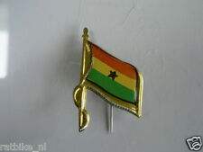 PINS,SPELDJES 50'S/60'S COUNTRY FLAGS 29 GHANA VINTAGE VERY OLD VLAG
