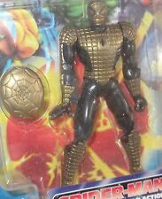 Toy BIZ RARE SPIDERMAN launching web shield action - X Men X Force Marvel Legend