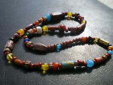 1 Nice Harmony Murano Red Brick Millefiori Bohemian Artistic Trade Bead Necklace