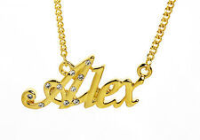 18K Gold Plated Necklace With Name ALEX - Pendant Best Friend Jewellery Gifts