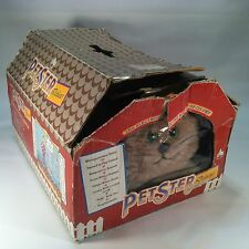 Vintage Axlon Petster Deluxe Sound Activated Robot Cat Made in 1985