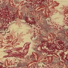 Fat Quarter The Toiles Bird Red Print Cotton Quilting Fabric