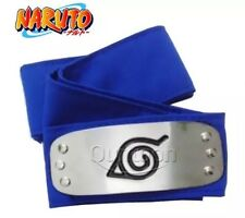 New Naruto Kakashi Sasuke Blue Leaf Village Konoha Ninja Headband Cosplay Anime