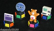 Totally 80's Trivial Pursuit figure tokens Care Bear Trapper Keeper CD Computer