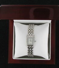 CONCORD LADIES VENETO MINI 18K SOLID WHITE GOLD DIAMOND MOTHER-OF- PEARL WATCH