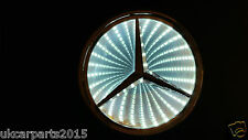 WHITE Logo Light For BENZ MERC Car Badge Light Auto Led Emblem