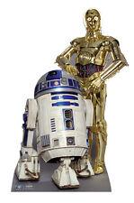 SC-480 R2D2 und C-3PO Star Wars Höhe ca.166cm Pappaufsteller Figur Lebensgroß