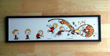 Calvin and Hobbes Flying Tackle Mounted Print 5 x 18""