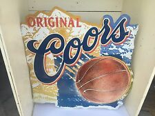 Vintage RARE Coors Basketball Metal Embossed Sign Banquet Beer 1999