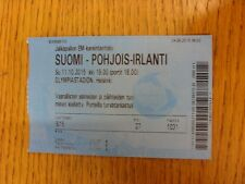 11/10/2015 Ticket: Finland v Northern Ireland [In Helsinki] . Thanks for viewing