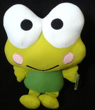 "Hello kitty Keroppi plush green frog stuffed animal sanrio fiesta 11"" toy 2013"