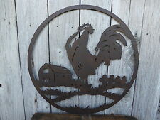 Industrial ROOSTER SILHOUETTE Farm Ranch Kitchen METAL WALL ART