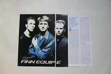 Crowded House Nick Seymour 3 pages clippings France Iron Maiden ad