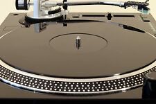 Gloss Black Turntable Platter Mat. AUDIO TECHNICA LP120 UPGRADE! IMPROVE LOOKS!