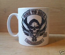 "NOVELTY ""RIDE TO HELL!"" MUG/ Gift Idea/Quote/Bikers/Hells Angels"